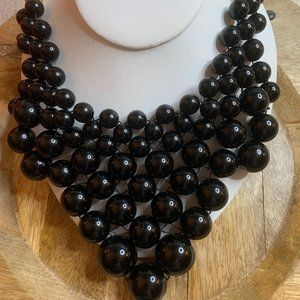 CLEARANCE!  Kate Spade Black Dotz Bib Necklace - NWT